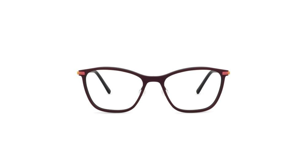 FLEYE Ugla dark red wood/s peach Brille Multi