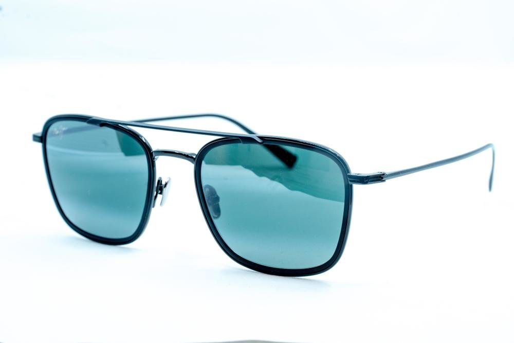 MAUI JIM Following Seas 555 02 Solbrille Blå med Speil glass