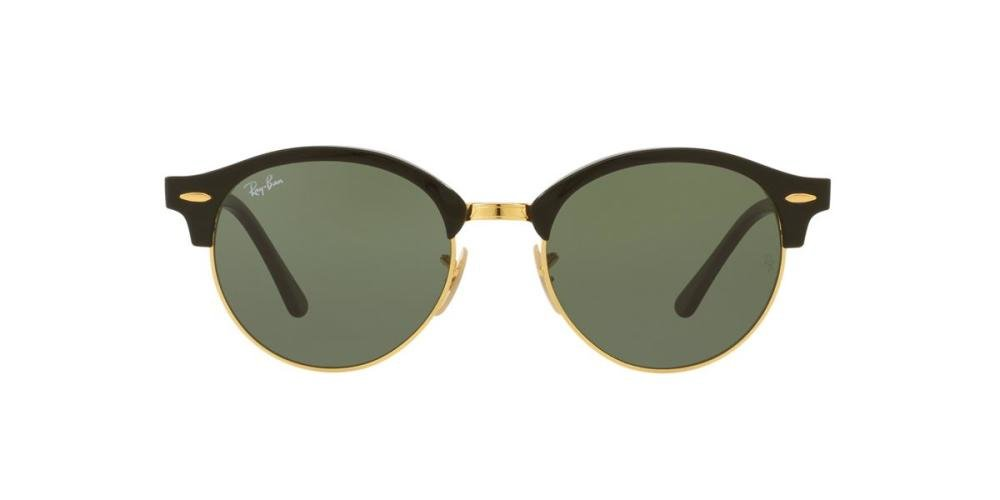 RAYBAN CLUBROUND 0RB4246 901 Solbrille Multi med Grønn glass