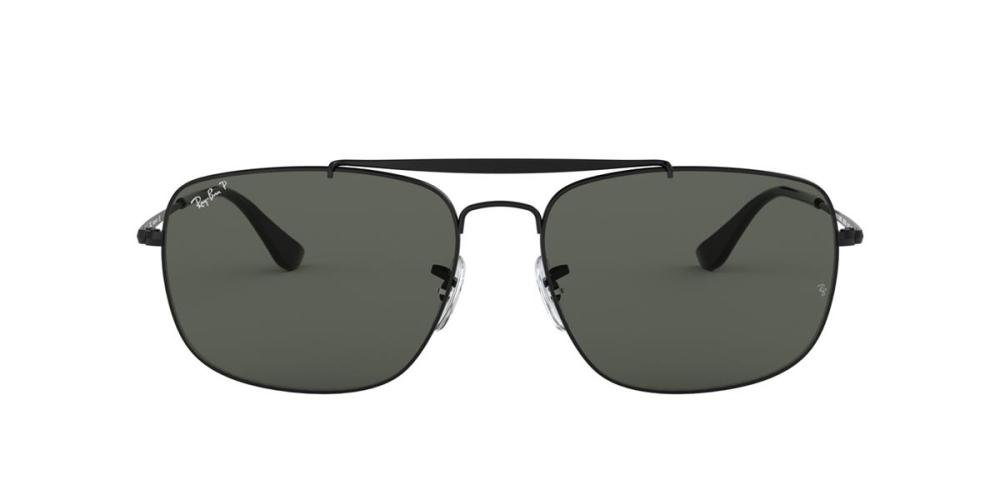 RAYBAN THE COLONEL 0RB3560 002/58 Solbrille Sort med Grønn glass