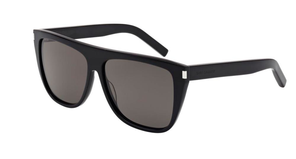 SAINT LAURENT SL 1 002 Solbrille Sort med Grå / Sort glass