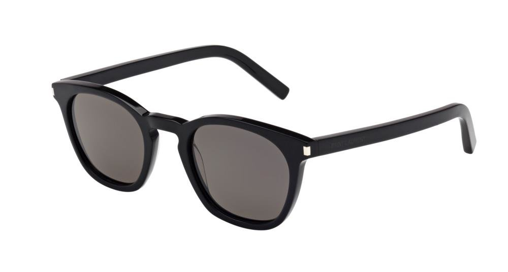 SAINT LAURENT SL 28 002 Solbrille Sort med Grå / Sort glass