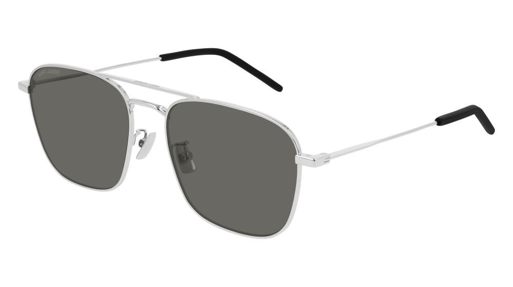 SAINT LAURENT SL 309 001 Solbrille Sølv med Grå / Sort glass