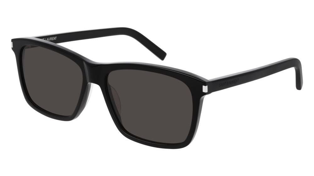 SAINT LAURENT SL 339 001 Solbrille Sort med Grå / Sort glass