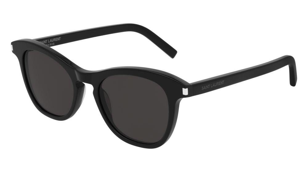 SAINT LAURENT SL 356 001 Solbrille Sort med Grå / Sort glass