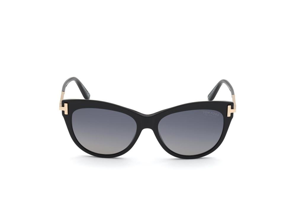 TOM FORD FT0821 01D Solbrille Sort med Grå / Sort glass